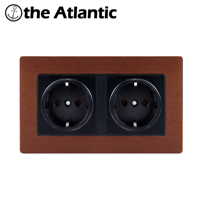 Atlantic16A 250V EU Standard Power Socket Schuko 86 Type Luxury Metal panel Electric Wall Socket Electrical Outlets For Home бытовой пылеводосос nilfisk alto buddy ii 18
