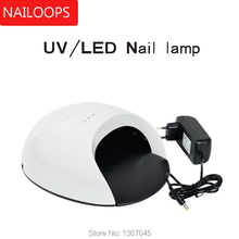 Beauty Health - Nail Art - Powered by Lithium Ion Nail Dryer Wireless Dual Light Lamp For Curing All Nails Gel UV+LED