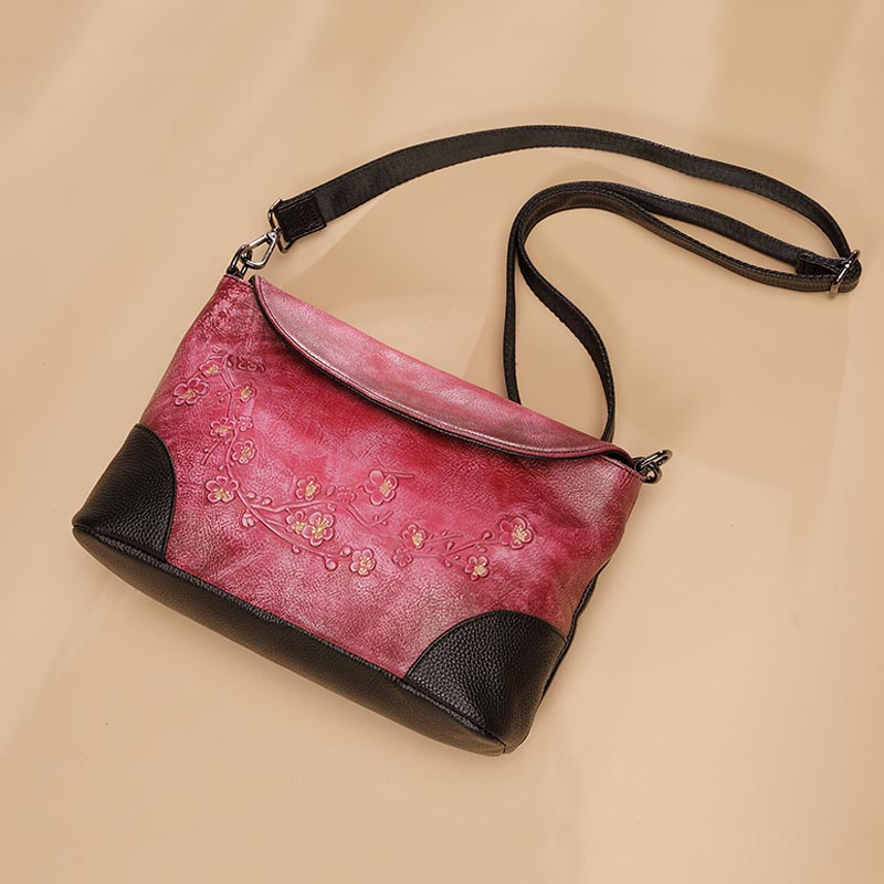 Chinese Style Noble Shoulder / Crossbody Bag Genuine Leather Top Leather Flower Pattern Flap Vintage Women Envelope Bags ClutchChinese Style Noble Shoulder / Crossbody Bag Genuine Leather Top Leather Flower Pattern Flap Vintage Women Envelope Bags Clutch