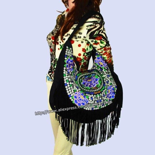 Tribal Hmong bolso mano Vintage Étnico bolso mano de Boho de bolsa étnico hippie FqEzd4