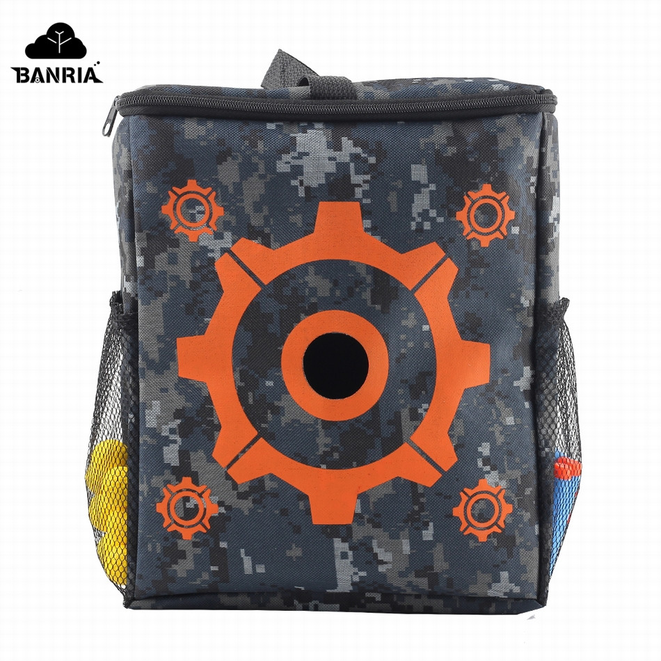 Banria Target Bag Pouch Storage Carry Equipment Bag with 2PCS Hooks for Nerf Gun Sniper For N-strike Elite / Mega / Rival Series ...