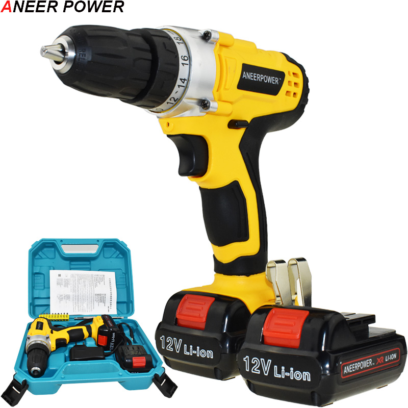 12v Power Tools Drill Cordless Drill Multifuctiona Electric Screwdriver Batteries Screwdriver Mini 1.5Ah Battery Capacity Drill 1 5ah battery capacity drill 12v mini cordless drill power tools electric screwdriver electric drill batteries screwdriver