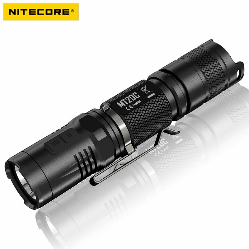 Nitecore MT20C Tactical Flashlight Cree XP-G2 R5 460 Lumens Red Light Flashligt Illumination 1* 18650 Camping Hand Light 7 types hollow dial wooden watch creative natural whole wood adjustable band men s sport casual dress hour clock reloj de madera