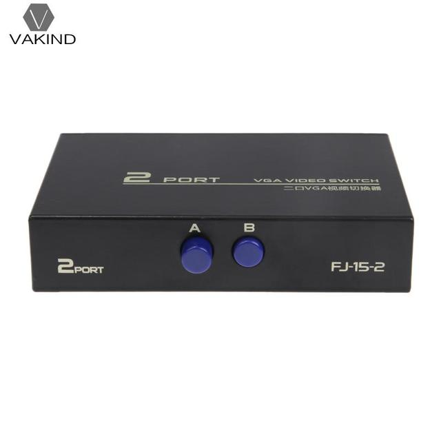 130 mhz 1 2 monitor schalter vga video switch splitter vga. Black Bedroom Furniture Sets. Home Design Ideas