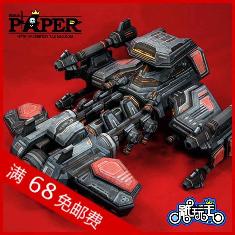 Nouveauté hobby 3d bricolage à la main Papercraft jouets Star Terran cuirassé croiseur armes dirigeable BC
