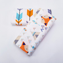 Fabric Patchwork Textile-Cloth Baby Clothing Sewing-Fat Fox-Printed Twill Dormitory DIY