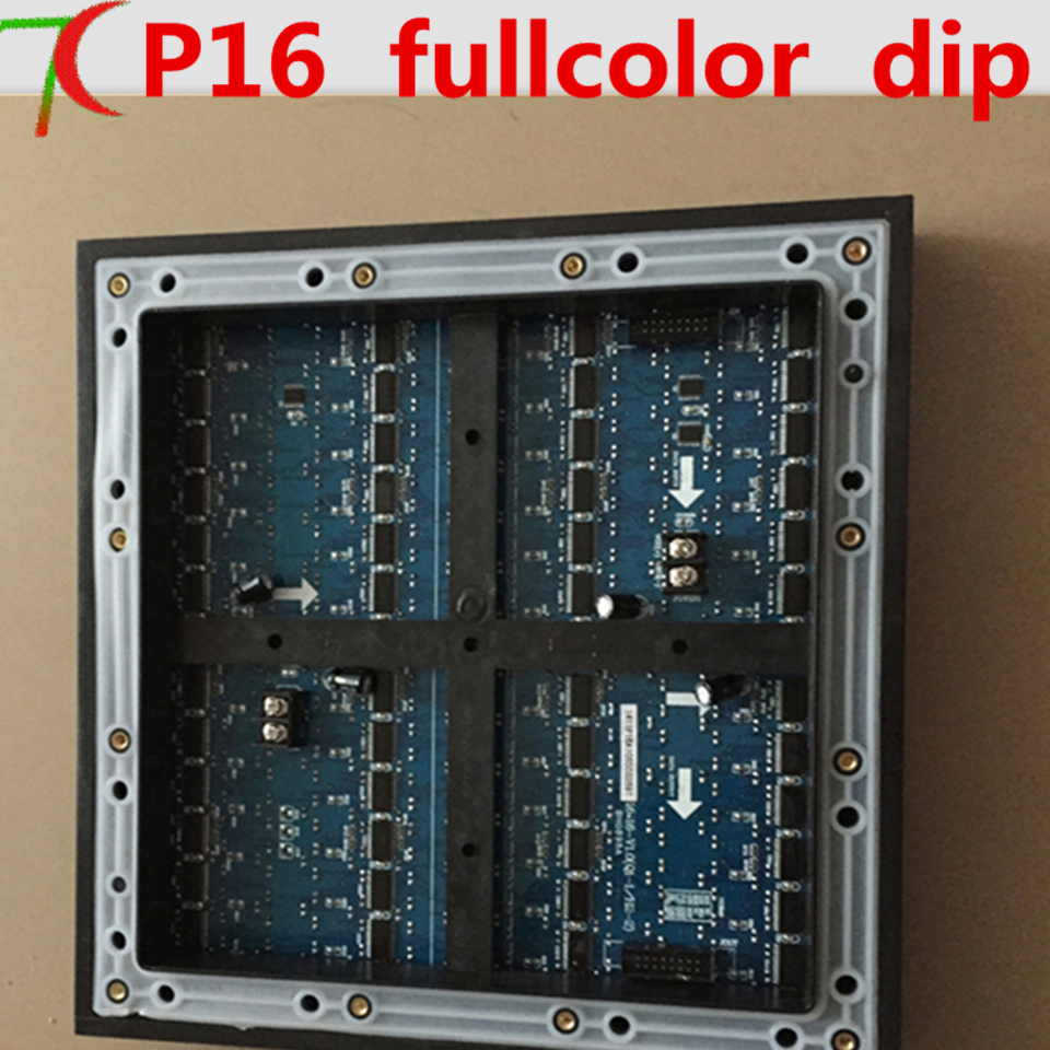Watch p16 dip high brightness waterproof static 256 256mm for Exterior led screen