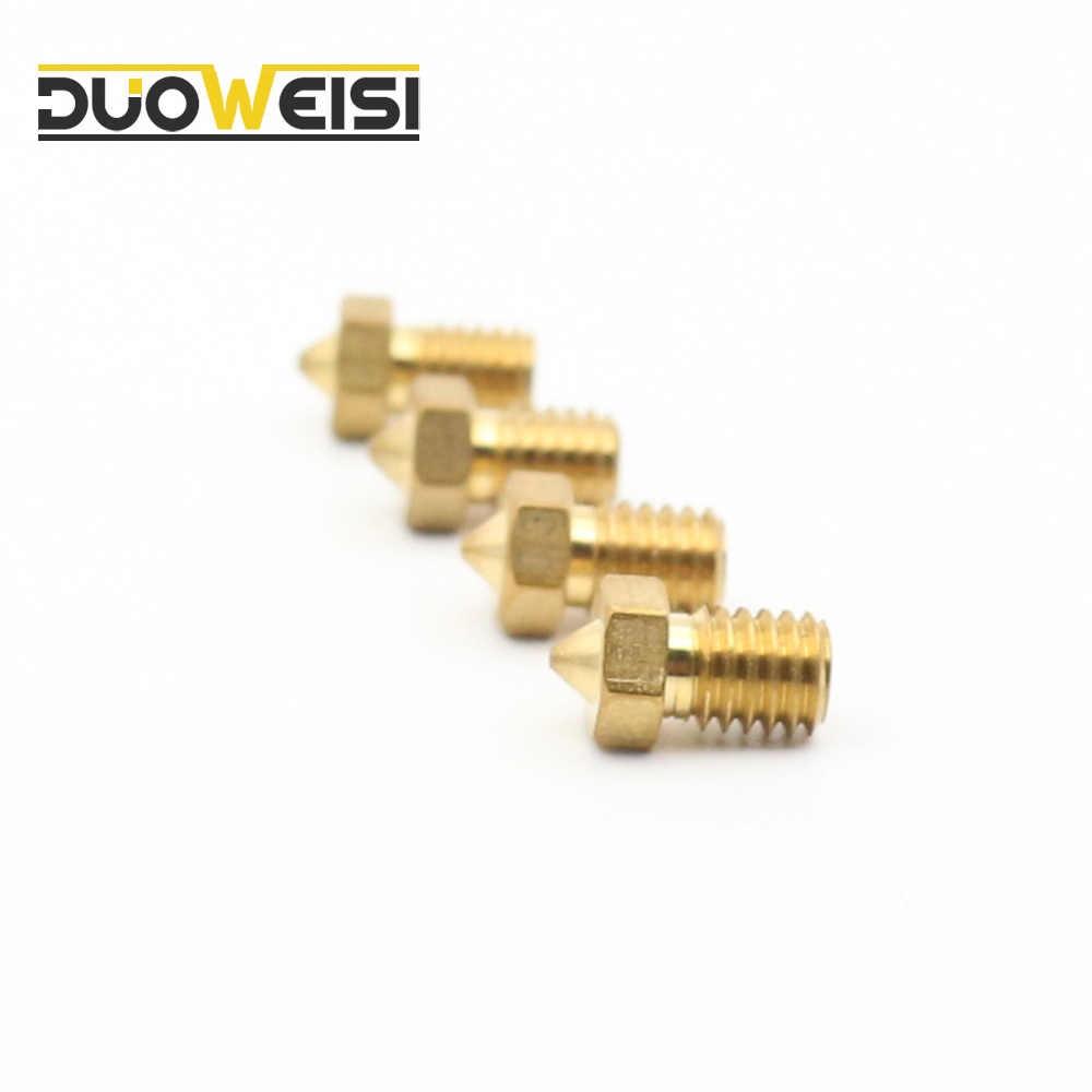M6 3D Máy In Thau Vòi Phun 0.2/0.3/0.4/0.5/0.6/0.8/1mm Cho e3D V6/V5 J-Đầu cho 3mm Filamnet Đùn vòi phun. BÁN BUÔN.