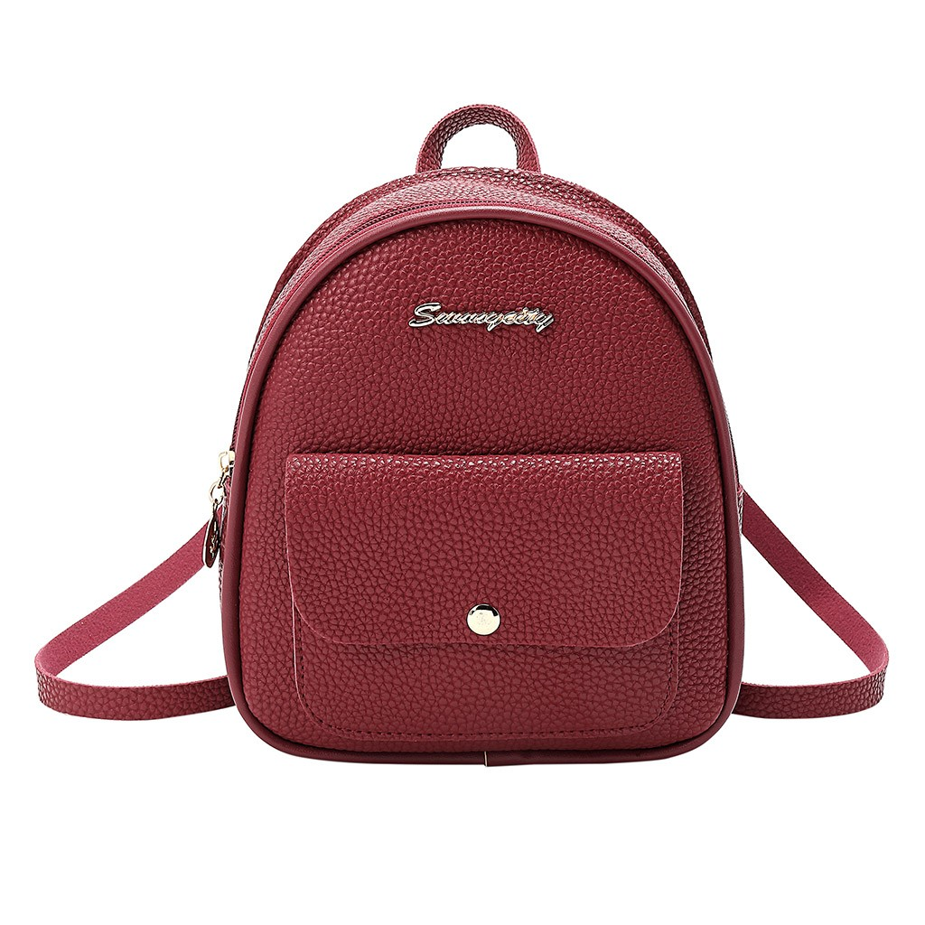 Bag Fashion Women Shoulders Small Backpack Letter Mini Bag