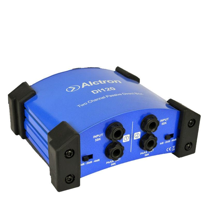 Alctron DI120 პასიური DI ყუთი, რომელიც გამოიყენება გიტარის ჩაწერასა და სცენაზე, შესანიშნავია კლავიატურაზე, აკუსტიკური და ელექტრო გიტარისთვის