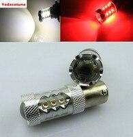2 Cái ĐỎ/Trắng 7225 BAZ15d (1122 P21) P21/4 Wát 566 CANBUS Xe Dừng/Tail Lights bulbs Kép Filament LED Xe Dừng/Đuôi bóng đèn 12 V DC