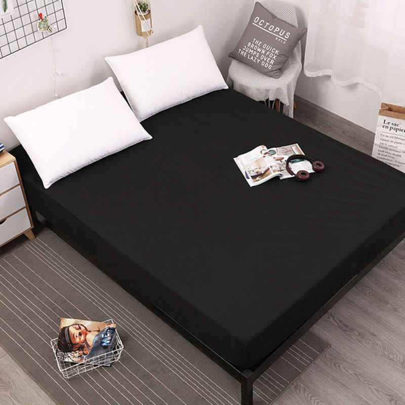 New Coming Solid Fitted Sheet On Elastic Band Mattress Cover with Elastic Rubber Band Printed Bed Sheet Hot Selling Bed Linens