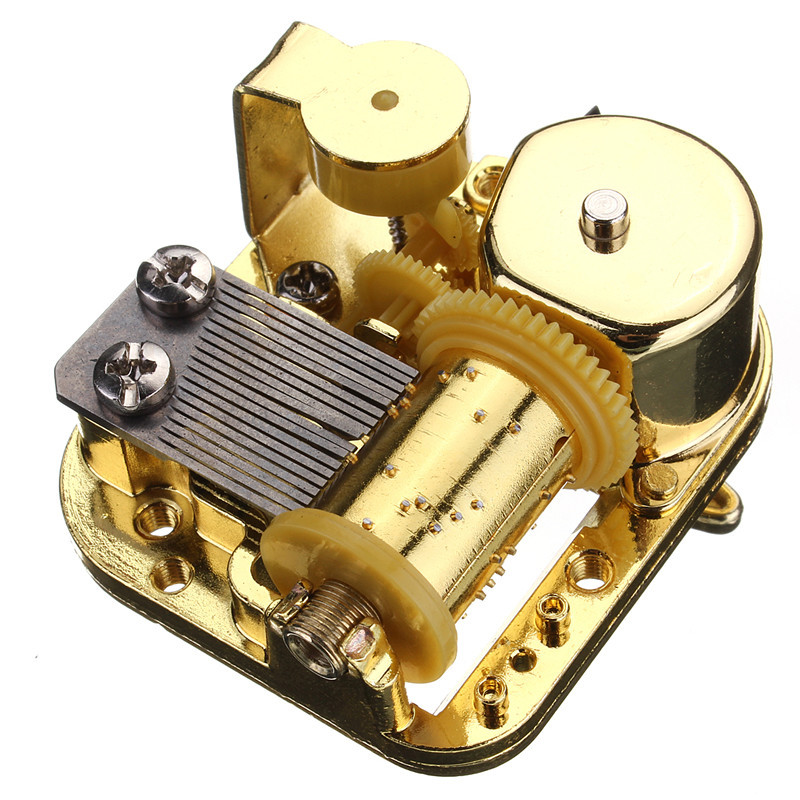 Best Promotion Hot Sale Unique 18 Notes DIY Mechanical Musical Box Golden Movement+Screws +Castle In The Sky Key Great Gift