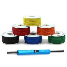 גלישת חוט AWG30 כבל בסדר חוט מגשר חוט משומר נחושת מוצק PVC האם PCB הלחמה + פומות חוט גלישת רצועה לגולל כלי