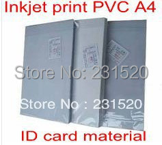 ФОТО Card Printing supplies material Blank Inkjet print PVC sheets A4 50sets white color 0.58mm thick: 0.15mm+0.28mm+0.15mm