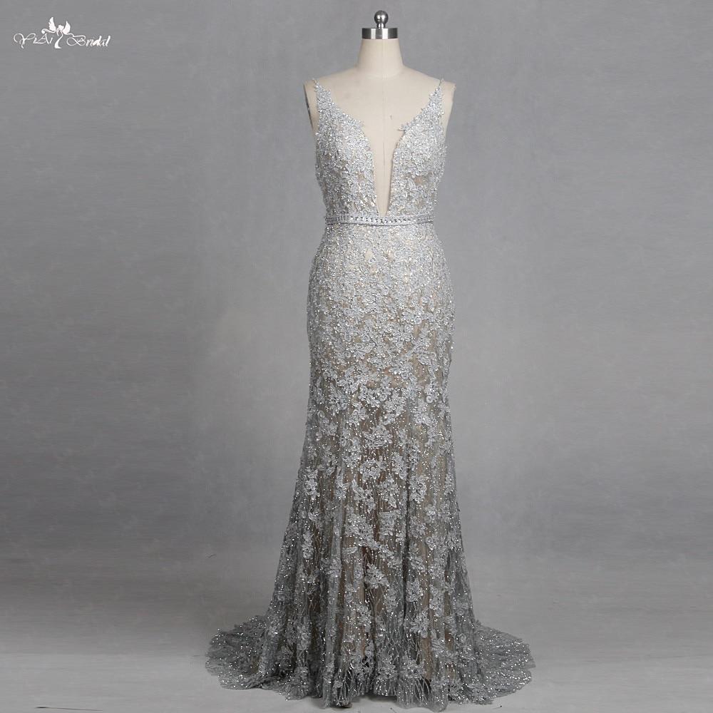 Rsw1266 V Neck Mermaid Wedding Dresses