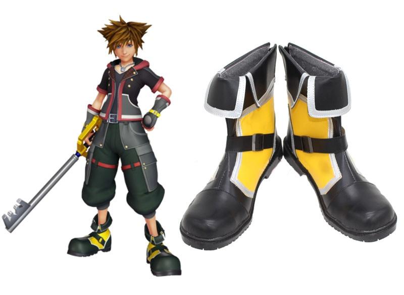Kingdom Hearts Sora Yellow Cosplay Boots Shoes Custom Made