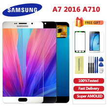 US $39.52 20% OFF|5.5'' Super AMOLED A710 LCD for SAMSUNG Galaxy A7 2016 LCD Display A7100 A710F A710 Touch Screen Digitizer Replacement-in Mobile Phone LCD Screens from Cellphones & Telecommunications on Aliexpress.com | Alibaba Group