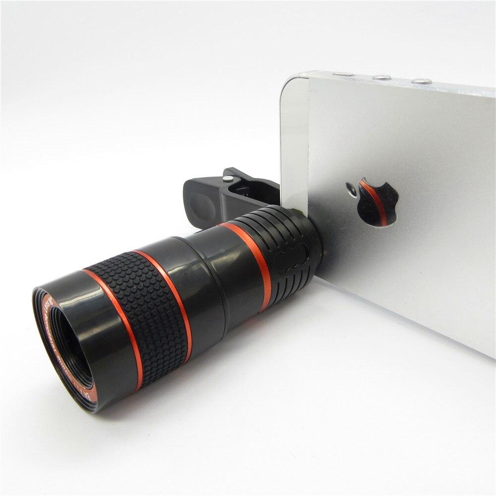 Universal 8X Zoom óptico Telescopio Cámara Lente Clip Teléfono - Accesorios y repuestos para celulares - foto 4