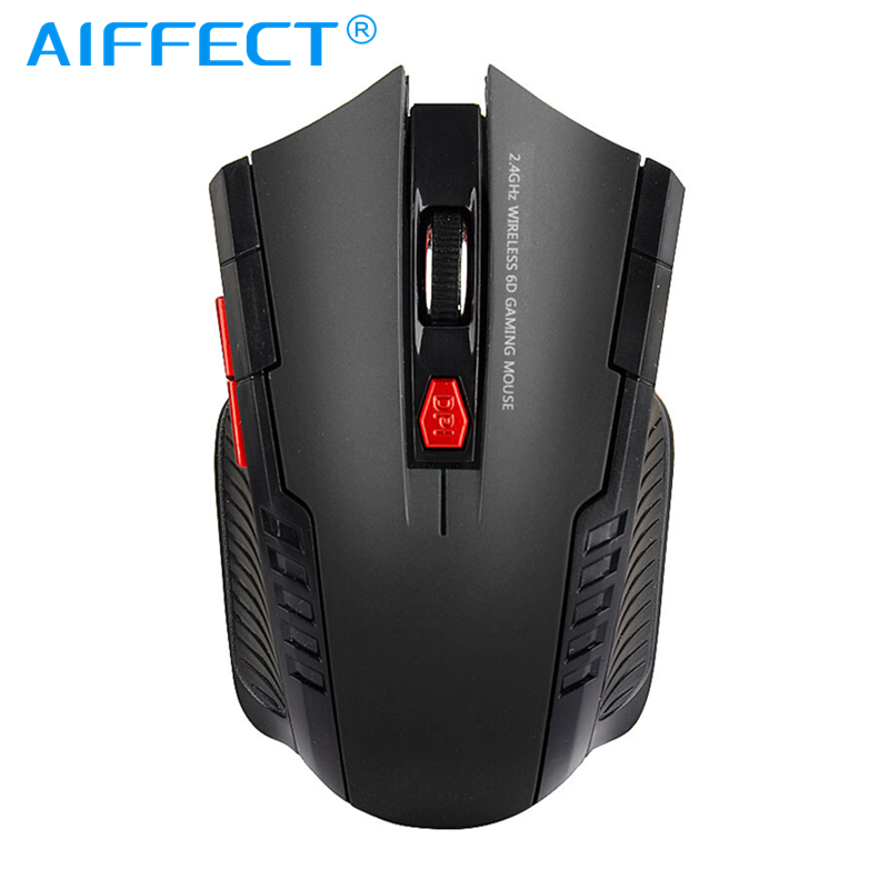 AIFFECT Mini Wireless Gaming Mouse for PC Laptops 2.4GHz Optical Ergonomic Mice Professional