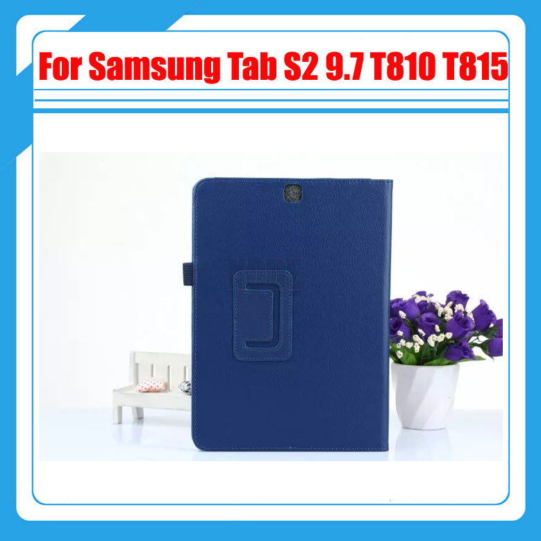 2 in 1 , PU Leather Case Stand Tablet Cover Case For Samsung Galaxy Tab S2 9.7 SM-T810 T815 + Screen Film And