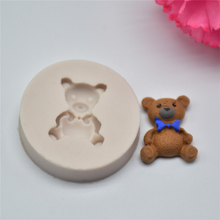 4YANG 3D Mini Bear Silicone Mold Fondant Mold Cake Decorating Tools  DIY Cake Tools Chocolate Gumpaste Mold Cake Stand Cupcake ttlife 3d easter bunny silicone mold rabbit with carrot cupcake fondant cake decorating diy tool candy chocolate gumpaste mould