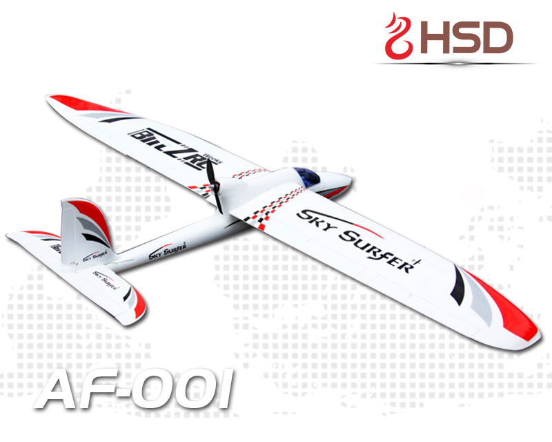 HSD EPO Red Sky Surfer 3S 20A ESC RC PNP/ARF Glider Plane Model W/ Motor Servo fpv x uav talon uav 1720mm fpv plane gray white version flying glider epo modle rc model airplane