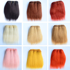 18cm Wool Hair Extensions for America Blyth SD BJD Puliip Kurhn All Dolls 1 Pieces Straight Wool Hair Wefts DIY Doll Hair Wigs(China)