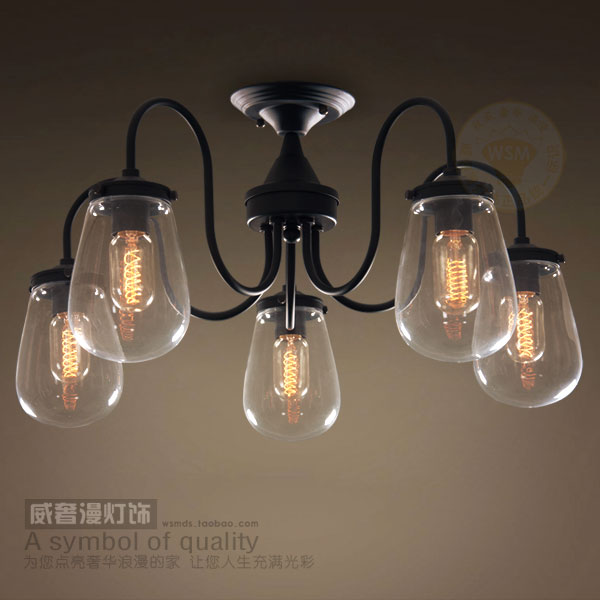 Vintage modern glass iron ceiling lamp chandelier flush mount light vintage modern glass iron ceiling lamp chandelier flush mount light hallway rustic retro big crystal pendant audiocablefo