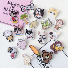1Piece Cartoon acrylic Brooch Button Pins Jacket Pin Jewelry Decoration Plate for Clothing Lapel