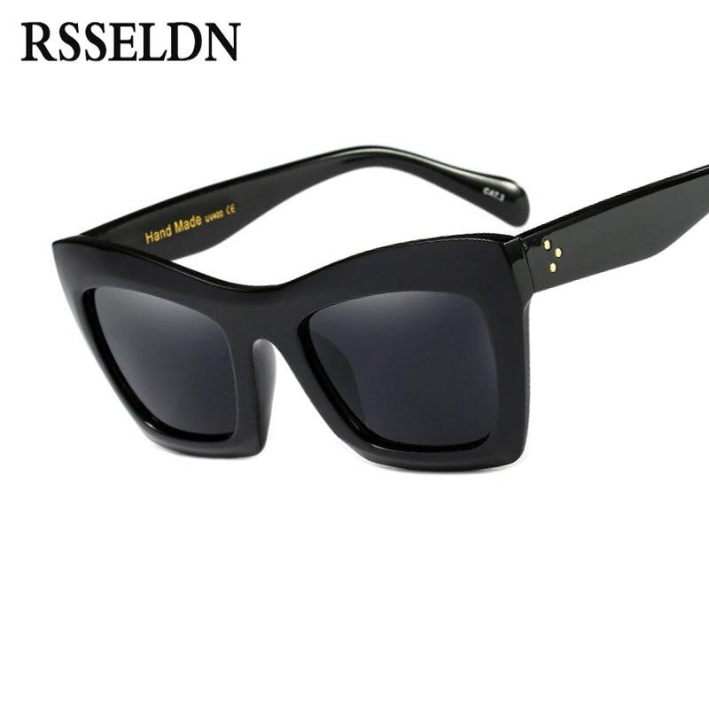 RSSELDN New Cat Eye Sunglasses Women Fashion Summer Style Square Sun glasses Vintage Classic Brand Designer Female Shades
