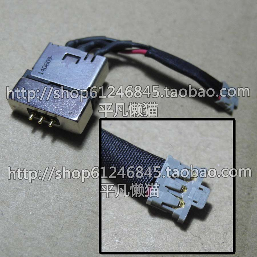 Free shipping original For Toshiba and other notebook power connector Power 3-pin with a magnetic head original 6609113 9 connector