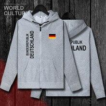 Allemagne Deutschland Allemand DE hommes blouson à capuche hiver cardigan à fermeture éclair maillots manteaux homme doudounes nation vêtements survêtement