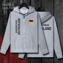 เยอรมนี Deutschland เยอรมัน DE เสื้อกันหนาวบุรุษ hoodies ฤดูหนาวซิปเสื้อสเวตเตอร์ถักเสื้อเสื้อผู้ชายแจ็คเก็ต nation เสื้อผ้า tracksuit