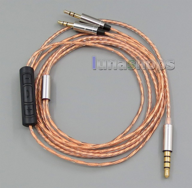 With Mic Remote Shielding Earphone Cable For Sol Republic Master Tracks HD  V8 V10 V12 X3