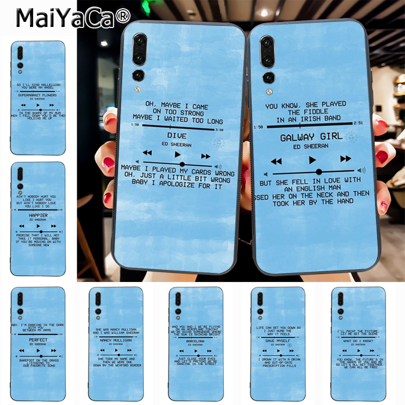 US $0 73 33% OFF Maiyaca Ed Sheeran Lyrics Pictures Cute Phone Accessories  Case for Huawei P20 P20 pro Mate10 P10 Plus Honor9 cass-in Half-wrapped
