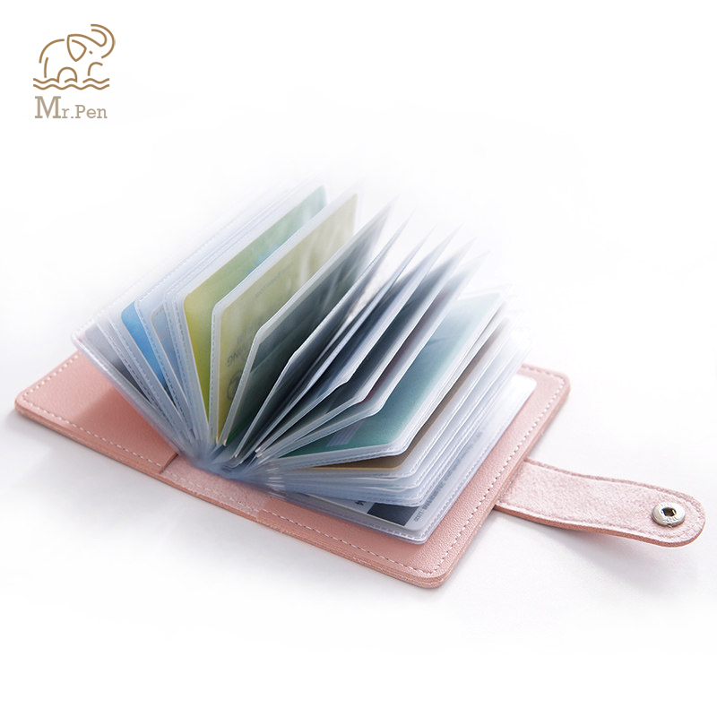 9f6c2e39ecbc US $4.78 50% OFF|2pcs/set Mini Pu Leather ID Cash Business Card Holder  Portable Men Women Couple Wallet Credit Card Protector Case Pocket Purse-in  ...