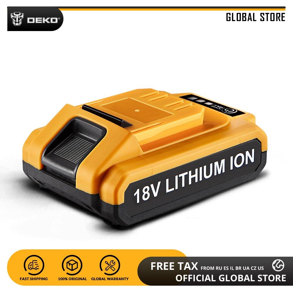 DEKO Battery18V-Y 18V 1500mAh Lithium Ion Battery For GCD18DU2 Cordless Drill Replaceable Battery Pack