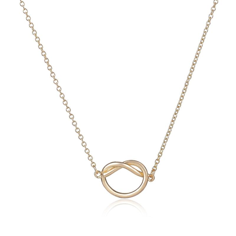 SMJEL ventas a granel para nueva moda collar de fiesta corazón amor simple collar de colgante de nudo para las mujeres 30pcs-N176