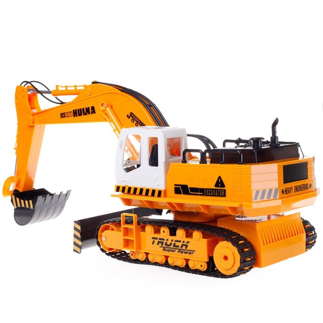 11CH RC Excavator Toys 2.4G  Remote Control Engineering Truck Digger Truck Model Electronic Excavator Heavy Machinery Toy