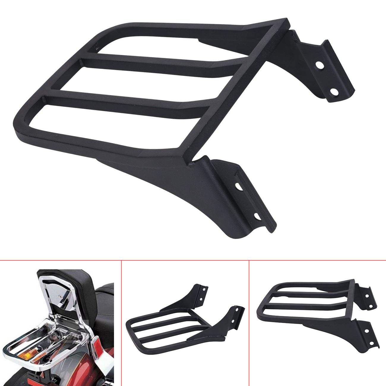 Black Motorcycle Backrest Sport Sissy Bar Luggage Rack For Harley HD Sportster XL 04-17/ Dyna 06-17/ Softail 84-05 FLST #MBJ328 two up luggage rack w led light case for harley sportster xl dyna softial 1984 2017