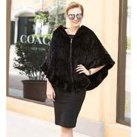 JKP hot new autumn and winter real natural fur coat mink shawl imported natural mink fur hooded scarf fashion shawl coat
