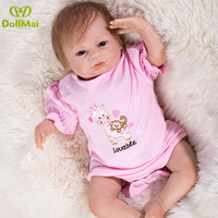 46cm Reborn silicone fashion reborn adorable baby dolls real alive newborn babies kids gift birthday Xmas gifts for chidren
