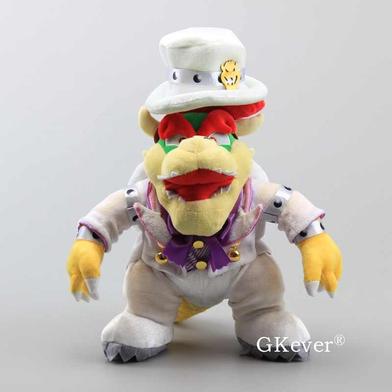 3 Styles Super Mario Bros Odyssey Bowser With Cappy Hat White Bowser Mario Peach Princess Wedding Dolls 23 36 Cm
