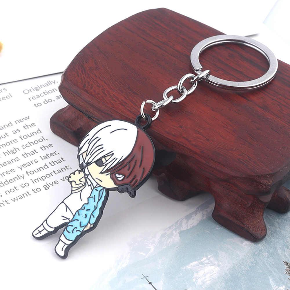 SG dessin animé mon héros académique porte-clés Boku pas de héros académique DEKU Midoriya Izuku Bakugou Katsuki Chaveiro porte-clés hommes bijoux