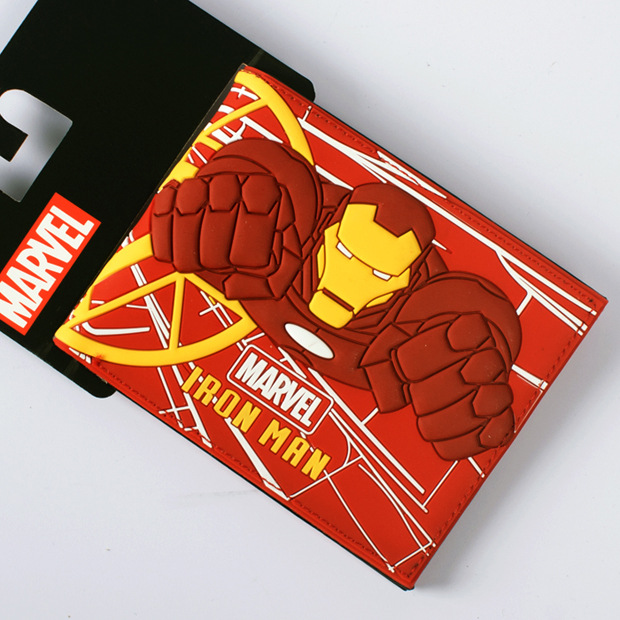 Comics DC Marvel Wallets Luxury Designs Cartoon Iron man PVC Money Bags Anime Casual Purse portefeuille femme