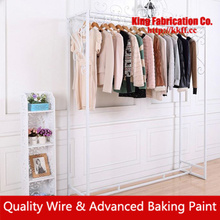 Pastoral simplicity iron Island clothing fashion clothing display rack floor side-suspended