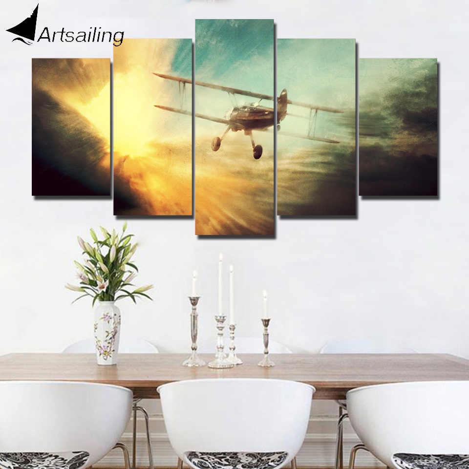 5 Piece HD Printed other World War II aircraft warfare Painting Canvas Print Room Decor Poster Picture Canvas 5 panel Canvas Art
