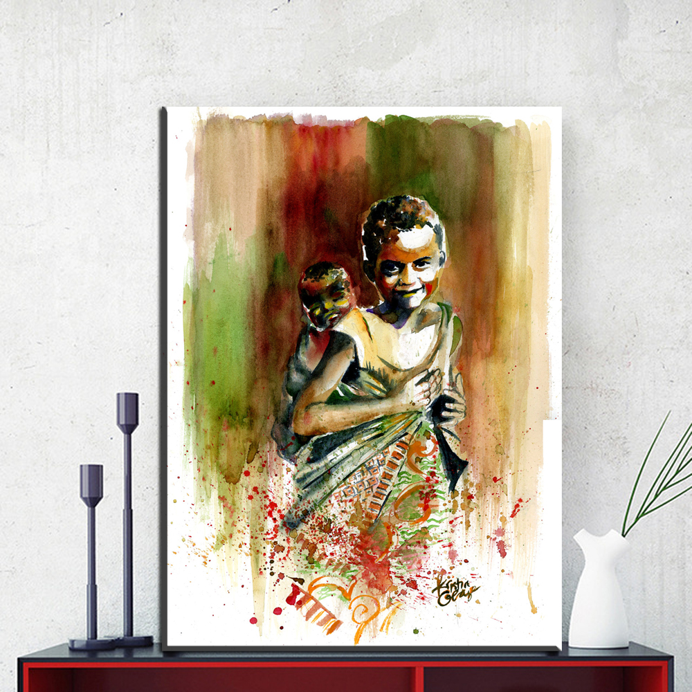 Beautiful Black Woman Art Prints Wall Picture , African Woman ...