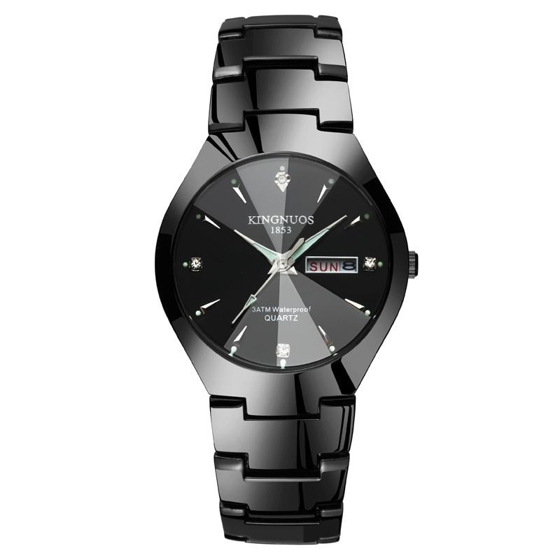Men Women Casual Fashion Quartz Watches Luxury Calendar Luminous Lovers Watch Tungsten Steel Waterproof Wristwatches Clock Hot